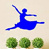 Vinyl Leaping Ballet Dancer Pattern Silhouette Removable Wall Sticker Art Decal Mural Diy Wallpaper para Nursery Dance Room Decal ~ 1 59 * 39cm