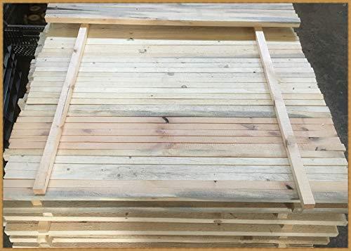 Eigenmarke 10 Stück Stapelleisten Bastelholz Vierkantleisten Holzleisten Abdeckleisten (ca. 25x25 mm, Naturholz)
