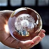 TYGJB Besot-3D Bola de Cristal Muñeca Feng Shui Regalo Decoración de Oficina Tormenta Bola de Cristal Adorno Estatua Artesanía