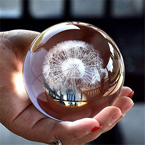 TYGJB 3D Crystal Ball Figurine Feng shui Gift Office Decorative Storm Glass Ball Balls Ornaments Statue Crafts