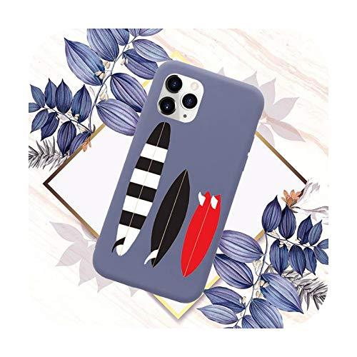 Funda para teléfono móvil con diseño de olas de mar caliente para iPhone 11 12 Mini Pro XS MAX 8 7 6 6S Plus X SE 2020 XR-a5-7plus u 8plus