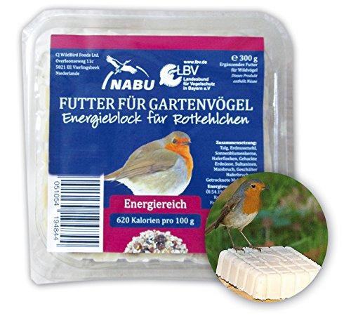 CJ Wildlife 103540715 Energieblock für Rotkelchen und andere Wildvögel