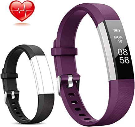 Lintelek Fitness Tracker, Activity Tracker Slim with Heart Rate Monitor, IP67 Waterproof Step Counter, Calorie Counter, Pedometer for Kids Women and Men