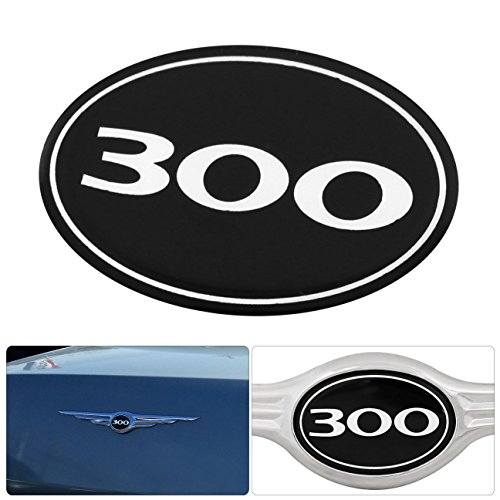 AJP Distributors Compatible/Replacement For Chrysler 300 300C Rear Grille Grill Logo Emblem Gel Sticker Replacement