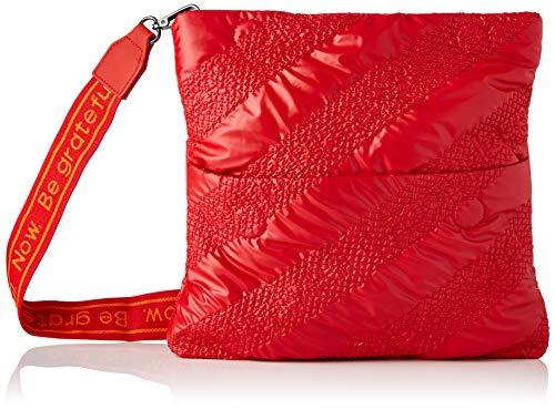 Desigual Fabric Body Bag, Bolsa para Cuerpo de Across para Mujer, Rojo, U