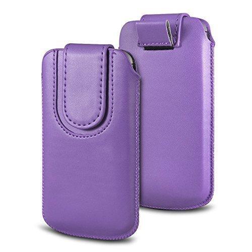 N4U Online Various Farbig Magnetisch PU Leder Zug Kippen Tab Schutzhüllen Tasche für Doogee X5S - Helllila