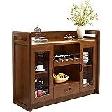 Tolalo Mueble de madera para bufé, aparador y mesa de consola con dos armarios y estante inferior, para cocina comedor...