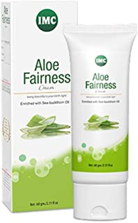 IMC Herbal(International Marketing Corporation) IMC Aloe Fairness Cream Enriched with Ghritkumari, Sea Buckthorn, Olive and Almond Oil, 60 gm