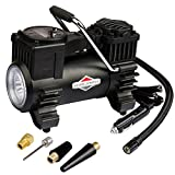 BriggsStratton Tire Inflator Car Tire Pump Portable Air Compressor with Digital Pressure Gauge 120 PSI 12V DC with 4 Nozzle Adaptors for Car Tires Bicycle Motorcycle Ball BS-IN210DC
