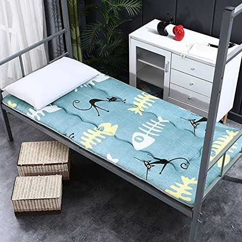 ZUSFUL Materasso Letto futon Matrimoniale e Singolo Pieghevole e Arrotolabile. materassi da Terra futon Trapuntato salvaspazio Bed Ground futon Bambini,90×190cm