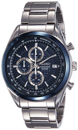 Seiko Orologio Cronografo Quarzo Uomo con Cinturino in Acciaio Inox SSB177P1