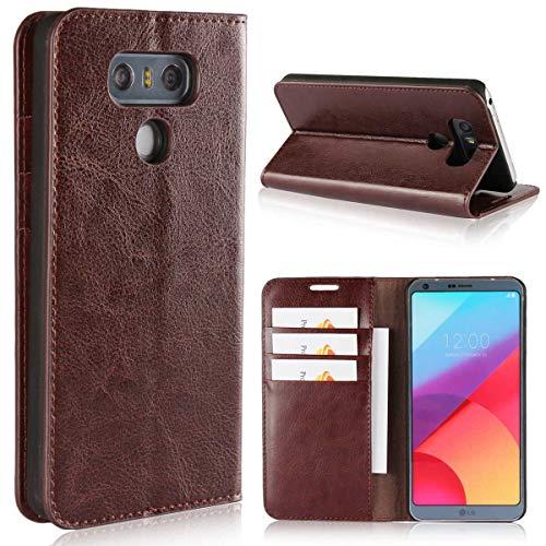 Cover LG G6, SONWO Premium Moda Flip PU Pelle Portafoglio Libretto Custodia con Carte Credito Slot, Supporto Funzione e Chiusura Magnetica per LG G6, Marrone