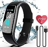 SIKADEER Fitness Tracker, Activity Tracker Watch with Blood Pressure Heart Rate Monitor, IP68 Waterproof Smart...