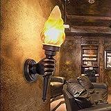 JINRU American Retro Wall Light Creative Bar Restaurant Decoration Cafe Gang Torch Light Outdoor Wall Light (Size: Right Hand)
