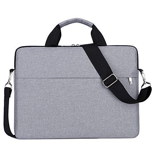 """Cicilin Maleta para laptop, bolsa de ombro, capa para notebook compatível, Macio, Cinza, 14"""""""