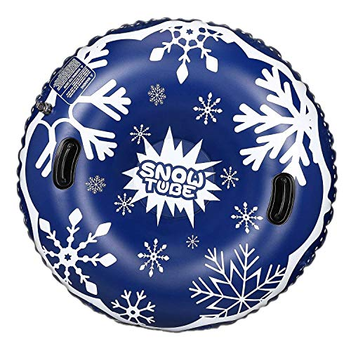 WASAKKY Snow Tube - 47 in Snow Sled, Inflatable Snow Tubes for Sledding Kids,Tubes for Floating with...