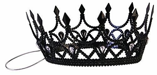 Forum Novelties Party Supplies Dark Royalty Queen Crown, Black, Standard, Multi