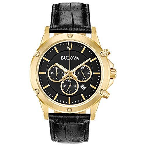 Bulova Reloj Cronógrafo para Hombre de Cuarzo con Correa en Cuero 97B179