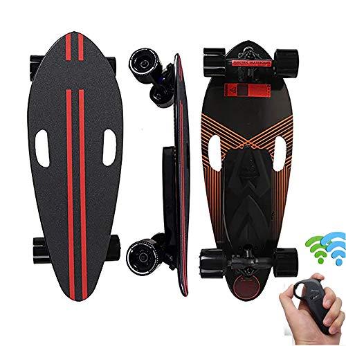 FGKING Longboard Elektromotor Skateboard E-Skateboard, mit Fernbedienung, Skateboard-Design 4-Räder, Elektro-Board, langlebige Batterie,Skateboard elektrisch mit Motor
