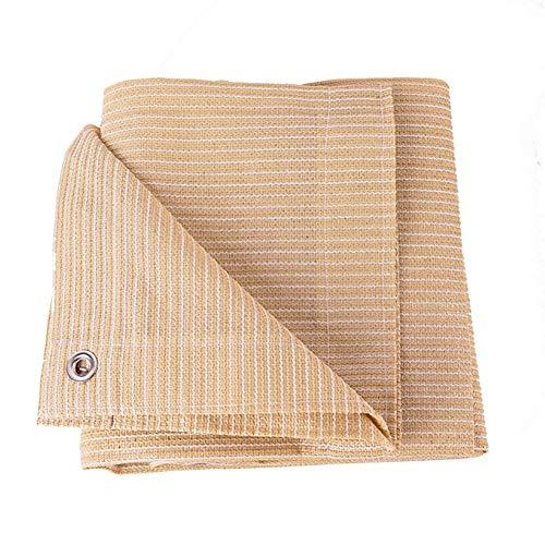 GuoWei 85% Sonnencreme Sonnensegel Masche Netto mit Ösen für Garten Draussen Anpassbar (Color : Beige, Size : 2x4m)