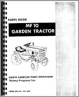 Massey Ferguson MF 10 Lawn & Garden Parts Manual