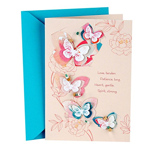 Hallmark Signature Mother's Day Card for Mom (Removable Butterfly Decoration)