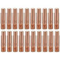 FTVOGUE 20Pcs Punta de contacto de cobre para 15AK MIG/MAG Antorcha de soldadura Consumibles 0.8/1.0mm(0.8mm)
