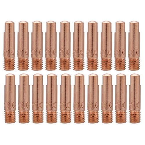 FTVOGUE 20Pcs Punta de contacto de cobre para 15AK MIG/MAG