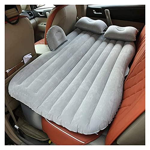 Coche multifuncional de servicio SUV Cojín de asiento trasero de la cama de colchón de aire inflable con 2 almohadas y bomba for el viaje Camping Playa Resto Tour Viaje de viaje Picnic ( Color : E )