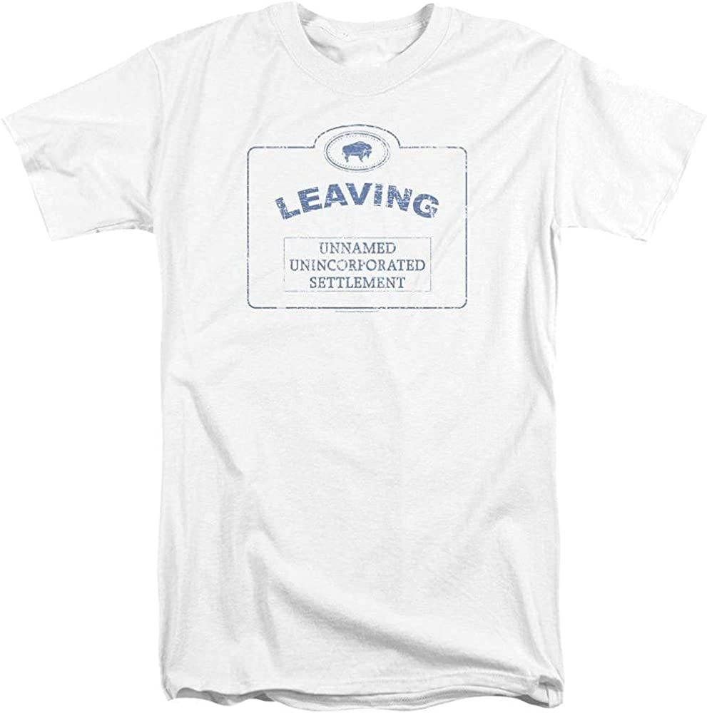 Warehouse 13 Now Leaving Univille Adult Tall Fit T-Shirt