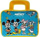 Pebble Gear Disney Mickey and Friends - Bolsa de transporte universal de neopreno para niños con diseño de Mickey, para tabletas de 7 pulgadas (Fire 7 Kids Edition, Fire HD 8), cremallera duradera