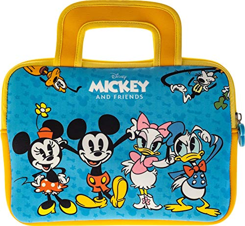 Pebble Gear Disney Mickey and Friends Carry Bag - Universal Neoprene Kids Carry Bag in Disney Mickey and Friends-Design, for 7' Tablets (Fire 7 Kids Edition, Fire HD 8 case), Durable Zip