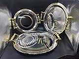 Set de 3 Bandeja para té marroqui redondas con grabado de estilo vintage, hecha a mano en color plata con detalles dorados marroquí