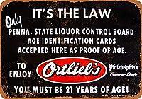 Ortlieb's Beer ID Enforcement ティンサイン ポスター ン サイン プレート ブリキ看板 ホーム バーために