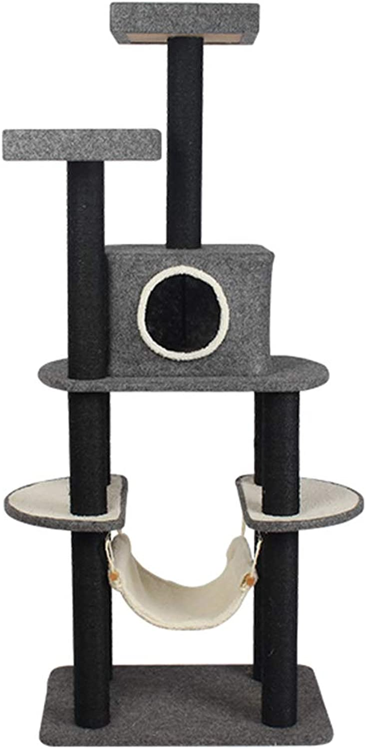 Cat trees Cat climbing cat toy cat frame cat litter four seasons universal cat house cat house 20kg