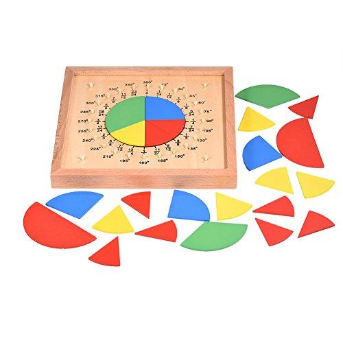 professionnel comparateur Zerodis Round Professional Montessori Fractional Materials Table ronde de section mathématique… choix