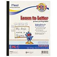 Mead Learn To Letter Tablet, Pre-K - 1st Grade Workbook, 20cm x 25cm, Practise Writing, Handwriting (48166)