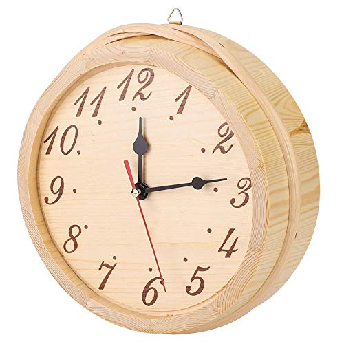 Reloj de madera para sauna, suministros para sala de sauna, accesorios para sala de sauna, reloj de sauna, uso de dormitorio de madera para decoración del hogar, sala de sauna