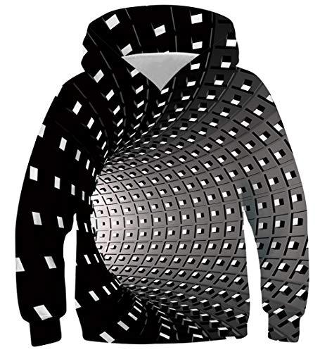Idgreatim Kleinkind Kinder Sweatshirt 3D Grafik Galaxy Universum Pullover Lustige Kinder Jungen Mädchen Hoodies L