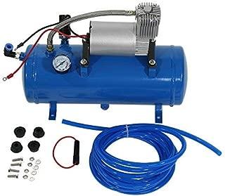 Zerone Bomba del Compresor de Aire, Inflador del Neumático del Compresor de Aire de 150psi 12V con la Bomba del Inflador de 6 litros para el Neumático del Remolque del Camión del Tren