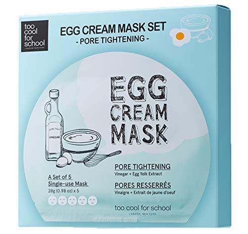 Too Cool For School Egg Cream Mask Pore Tightening Set