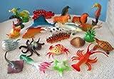 24er Set Fische und Meerestiere 3-7cm sehr detailliert -