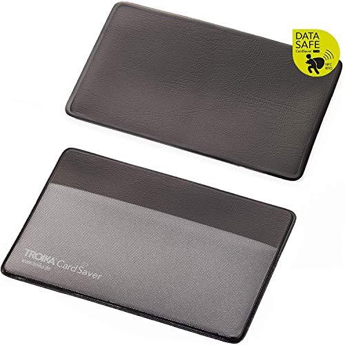 Troika Schutzhülle für eine Karte im Kreditkartenformat, Ausleseschutz für Kredit- und Bankkarten, Personalausweis und andere Karten mit RFID- oder NFC-Chip, schwarz