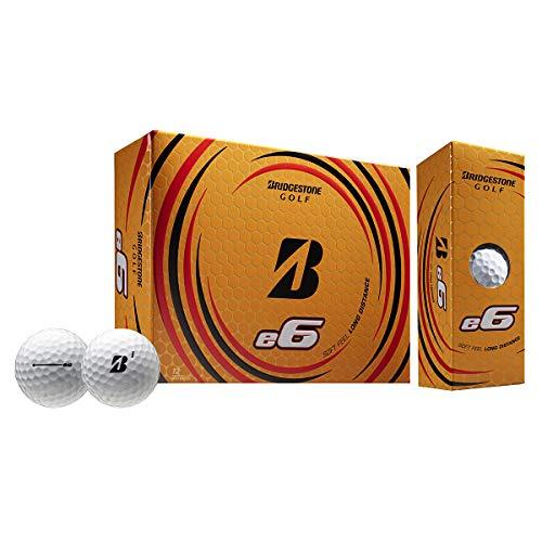 BRIDGESTONE 2021 e6 Golf Balls (One Dozen), White