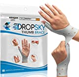 DropSky [4 Pieces] Gel Wrist Thumb Support Braces Soft Waterproof, Relief Pain Carpal Tunnel, Arthritis Thumb, Fits Both Hands, LightWeight, Therapy Rubber-Latex, Stabilizer Support (Gray)