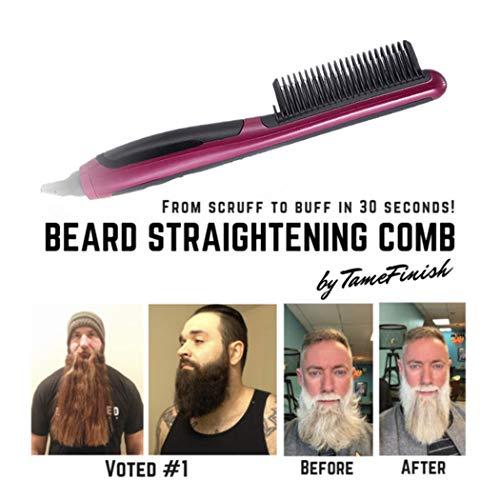Eléctrico de la Barba Pelo de Styler para Los Hombres Alisado Rápido Modelado Flexible Cabello Natural Lateral/Barba Desenredante