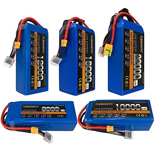OUYBO RC. Aeroplano Lipo Battery. 2S 3S 4S 5S6S Batterie 7. 4V 11.1 V 14,8 V 18,5 V 22.2V 10000-2200 0mah per RC. Drone elicottero quadcopter Accessori per batterie di parti RC