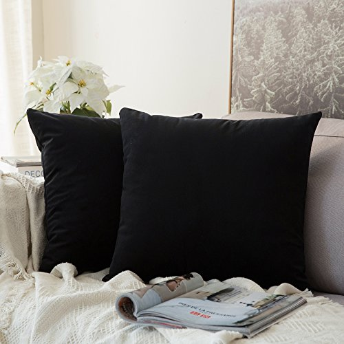 Our #3 Pick is the MIULEE Velvet Soft Solid Decorative Square Throw Pillow Covers