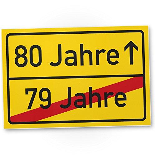 DankeDir! 80 Jahre (79 Jahre vorbei) - Kunststoff Schild, Geschenk 80. Geburtstag, Geschenkidee Geburtstagsgeschenk Achtzigsten, Geburtstagsdeko/Partydeko/Party Zubehör/Geburtstagskarte