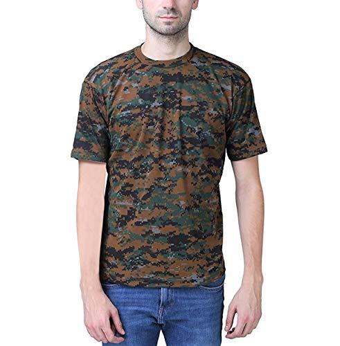 KT - Unisex Indian Army Black Premium Cobra Tshirt, Camouflage Military/Army Round Neck T-Shirt. (Large)